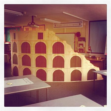 We turned our classroom into the coliseum