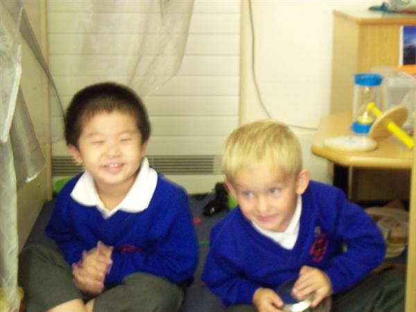 A picnic in our den!