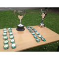 Cups and medals awaiting.