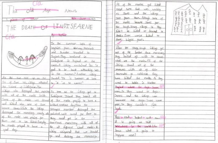 Extended write linked to enquiry topic