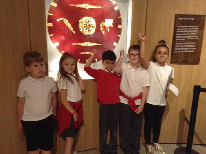 We went on a tour of the Exhibition Hall to look at Anglo Saxon artefacts.