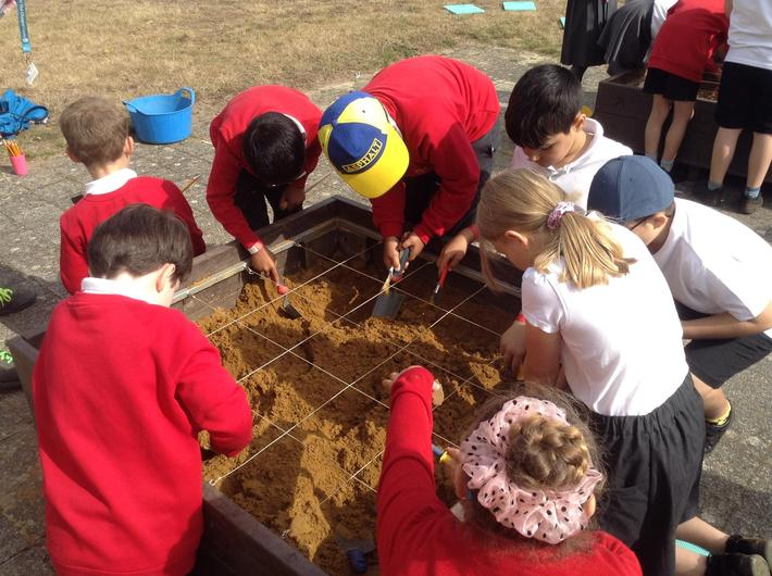 We became archaeologists and dug for treasures.