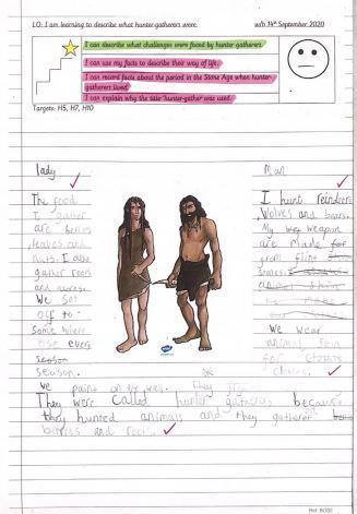 Enquiry work describing hunter gatherers