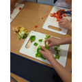 CUTTING THE VEGETABLES
