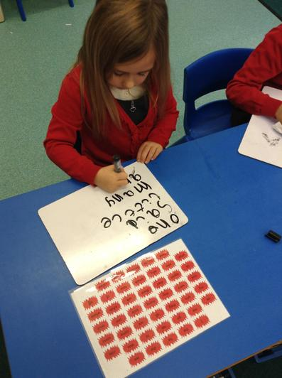 We love practicing our 'red' words.