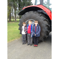Seing how big the tractor was