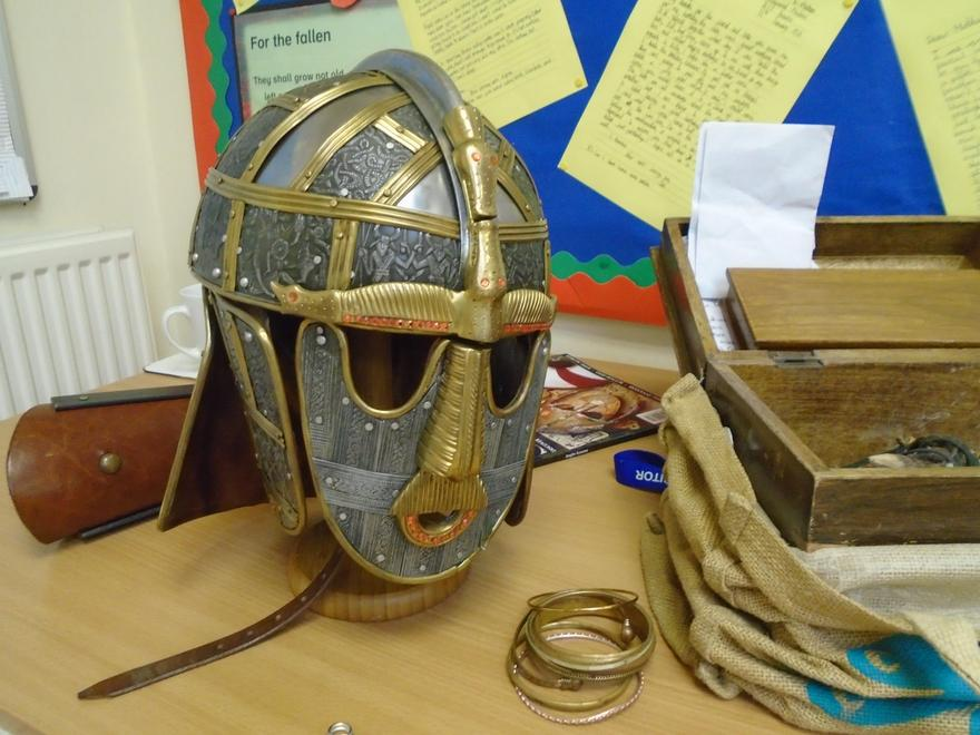 The Sutton-Hoo helmet.