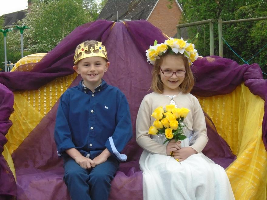 Our May Queen, Sofia and her King, Alfie