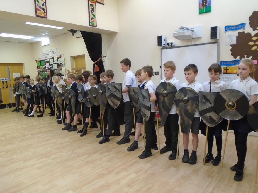 Anglo-Saxon shield wall!