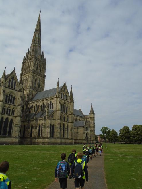 Hawks travelled to Salisbury Cathedral.