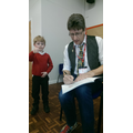 Steve Smallman signing books