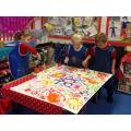 Divali - The children making rangoli patterns