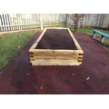 One of the 4 finished raised beds