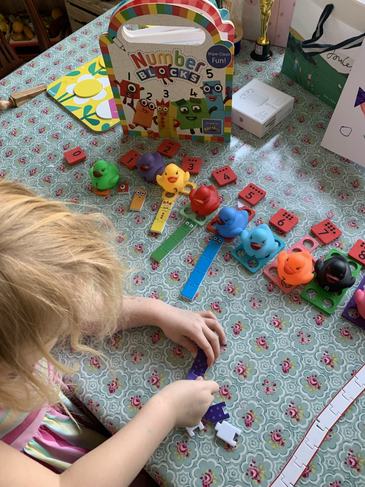 Number fun at home. Wow!