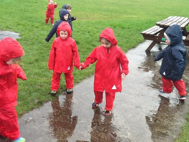We're going on a puddle walk!