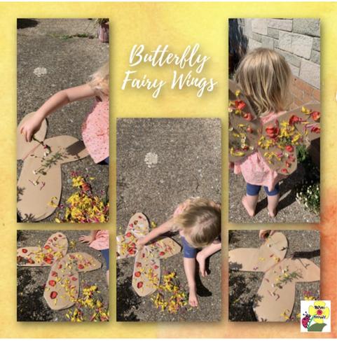 Creative butterfly wings- gwaith hyfryd!