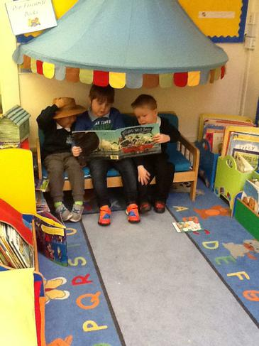 We love reading in our book corner.