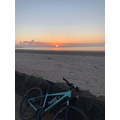 Miss Tanner rode her bike along the seafront to the see the sunrise