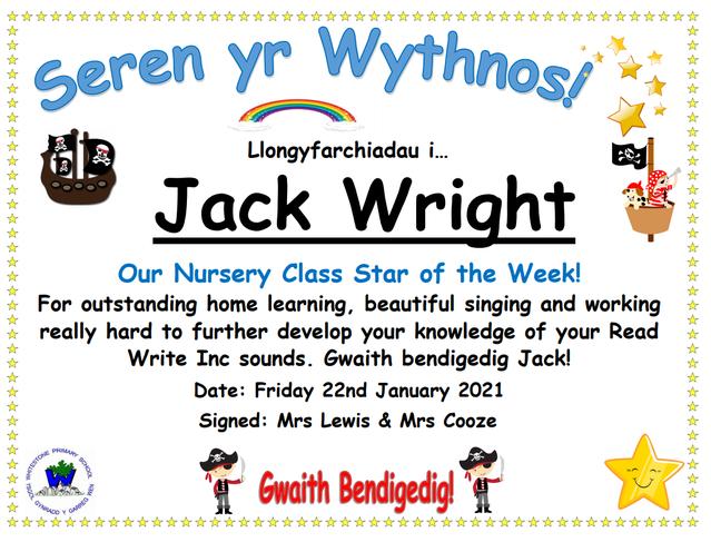 Congratulations JW!