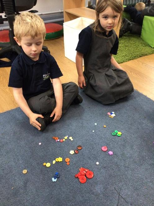 We sorted buttons in lots of different ways.
