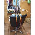 Having her hair braided
