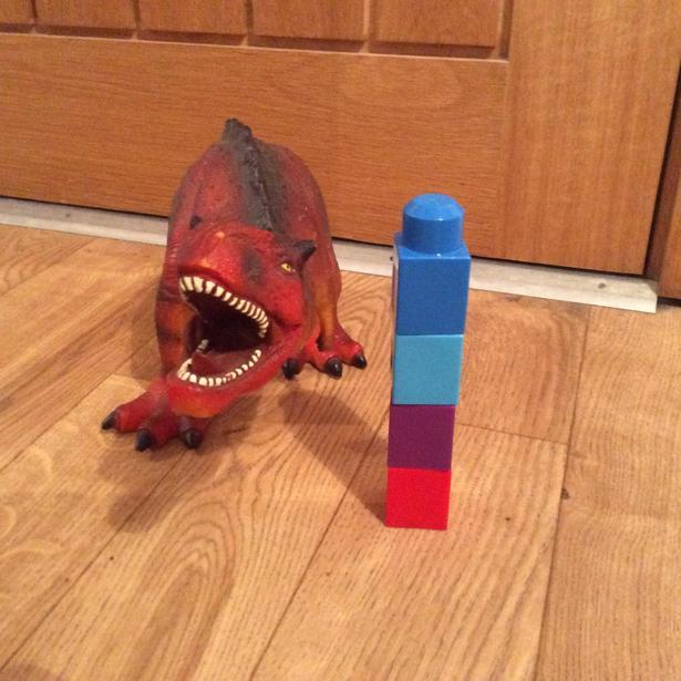 How tall is the dinosaur?