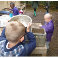 We love the mud kitchen at forest school.