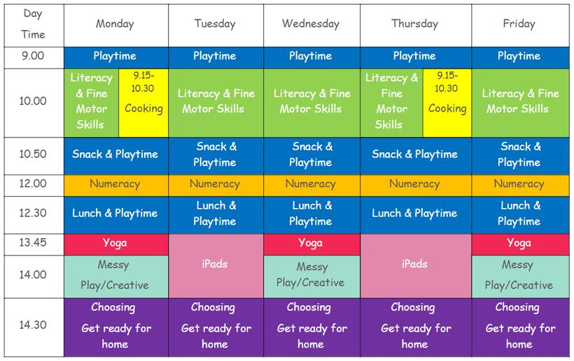 Term 4 Timetable