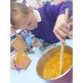 We enjoyed making curry