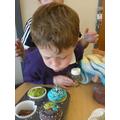 We enjoyed making playdough cupcakes together