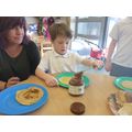 We enjoyed choosing toppings for our pancakes