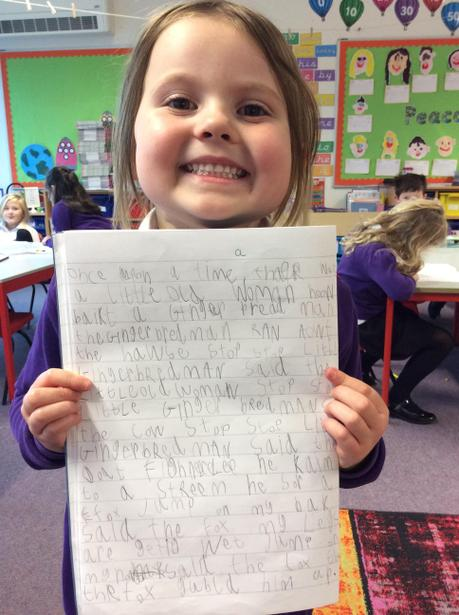 Poppy for her story of The Gingerbread Man