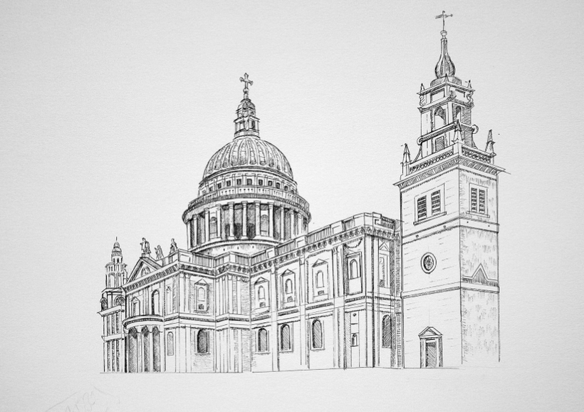 New St Paul's Cathedral which was designed and built by Sir Christopher Wren.