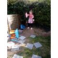 Having fun with Mummy in the garden!