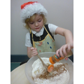 We had lots of fun making gingerbread men together
