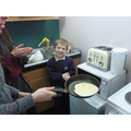 Flipping the pancakes was so exciting!