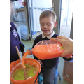 We loved halloween themed messy play