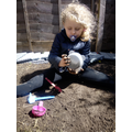 Messy play in the mud!