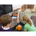 We loved the spooky pumpkin experiment