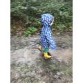 Splashing in puddles!