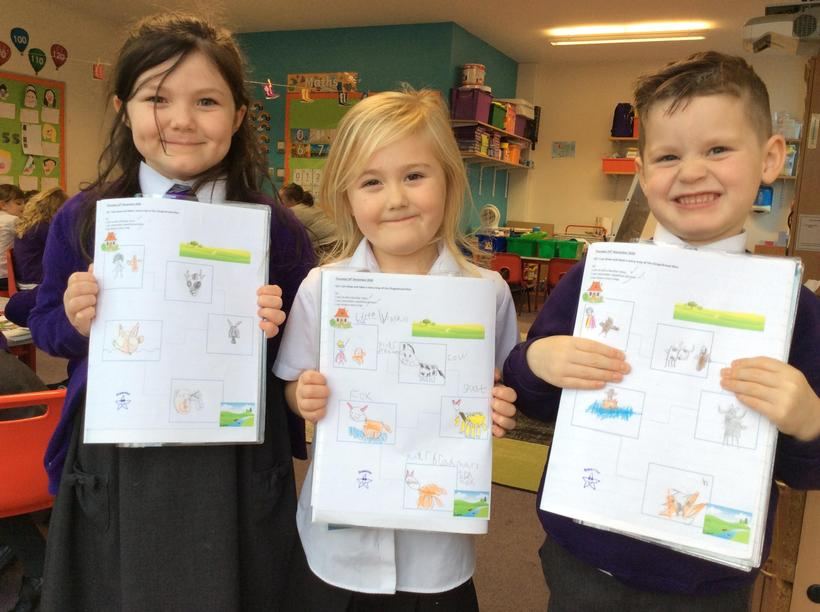 Isla, Lacey and Cole for their excellent story maps of The Gingerbread Man