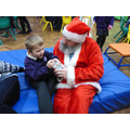 We loved our Christmas party and even met Santa!