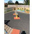 The wobble board to develop good balance.