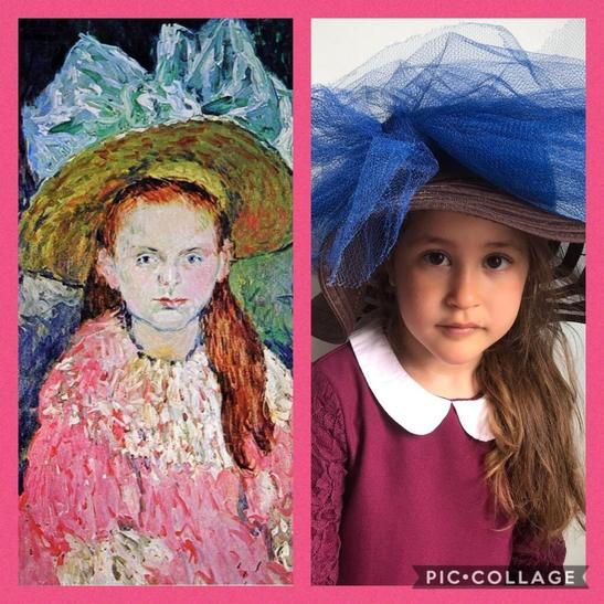 """Talia as """"Girl with a Large Hat"""" by Picasso"""