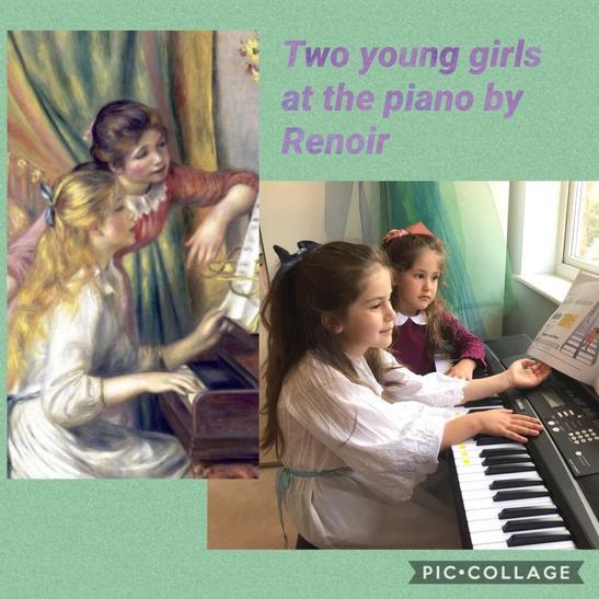 """Talia/Ella as Renoir's - Two Young Girls at Piano"""""""