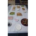 Sampling Greek Food
