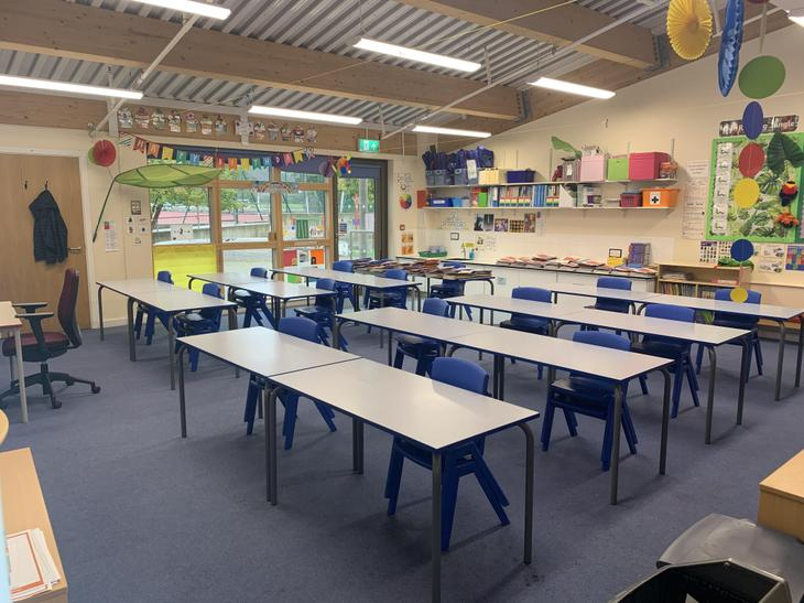 This is how the classroom will be set out in September.