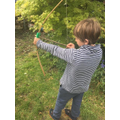 Homemade Saxon bow and arrow