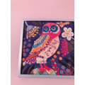 Sparkly owl artwork by Isla O