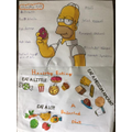 Love your Simpson Healthy Eating poster Connor
